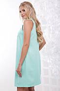 Женское нарядное летнее платье Жемчуг / размер 50-56 / цвет мята, фото 2