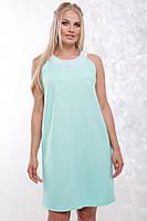 Женское нарядное летнее платье Жемчуг / размер 50-56 / цвет мята