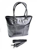 Женская сумка трапеция W-1012 черная, фото 1