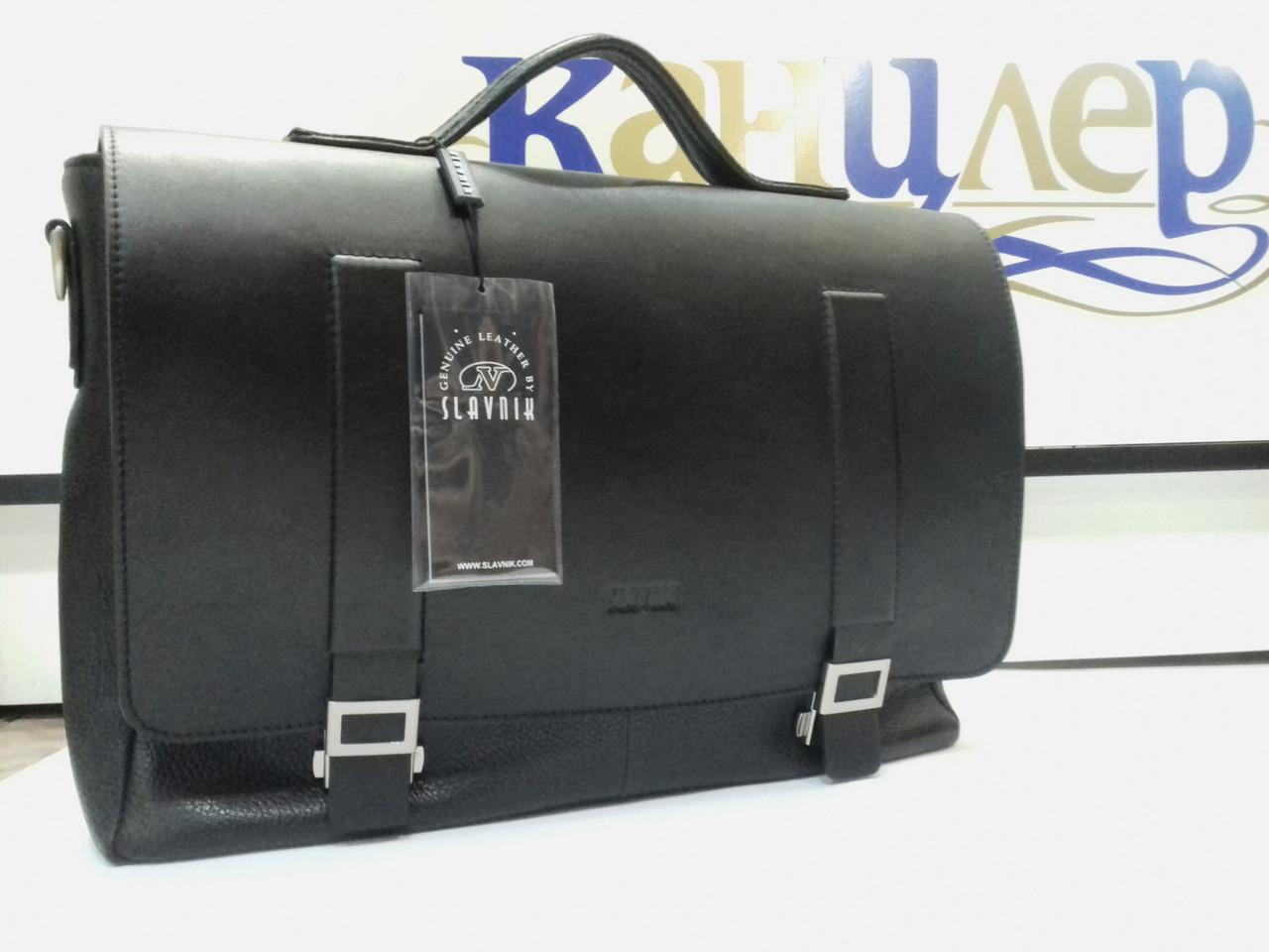 Портфель деловой с отделением для ноутбука из натуральной кожи