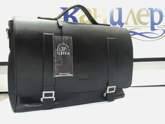 Портфель деловой с отделением для ноутбука из натуральной кожи, фото 2