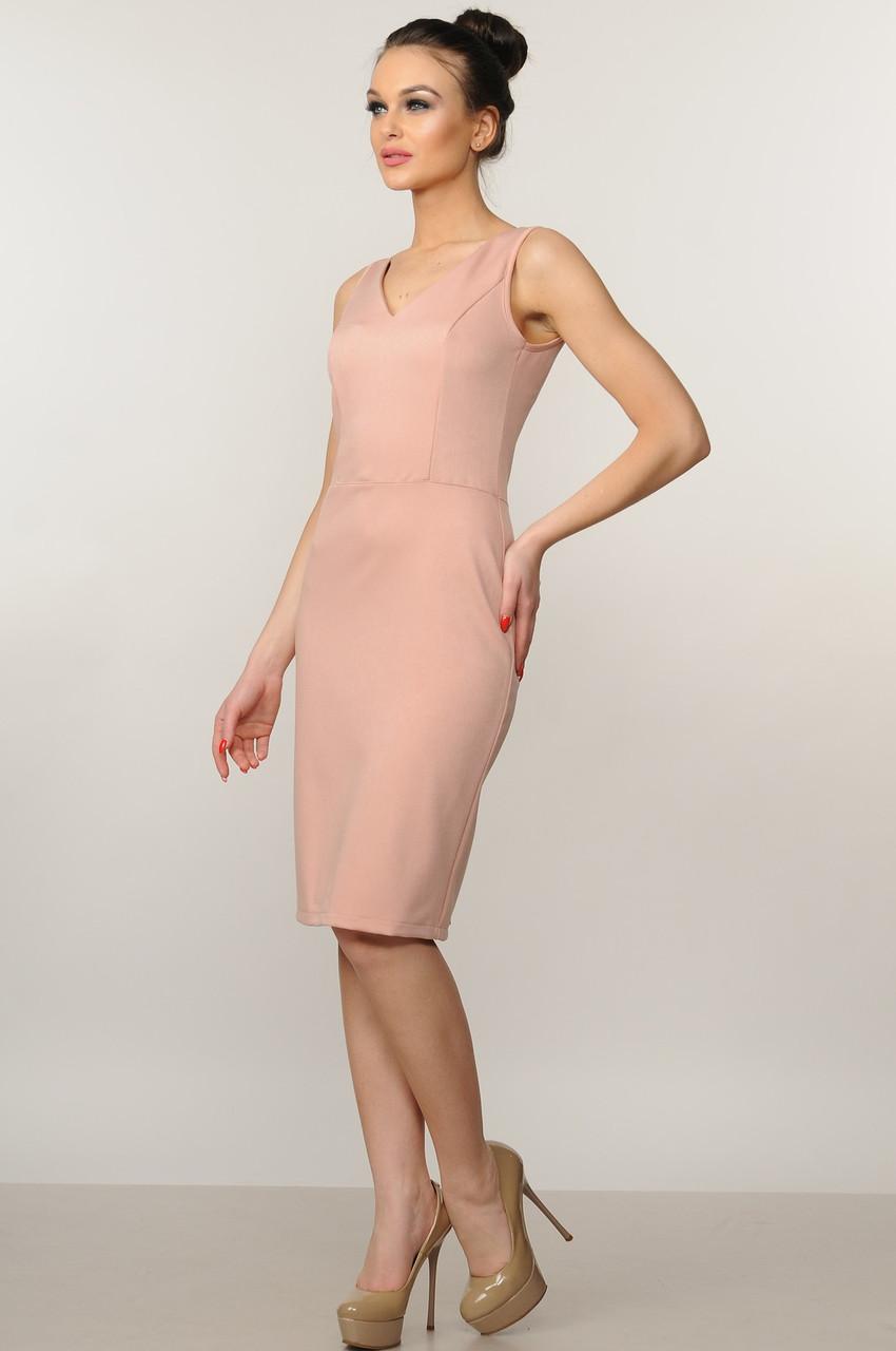 Модное платье Лори Ри Мари цвет пудра р.42-52