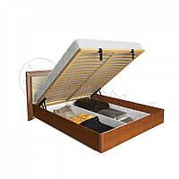 Кровать Bella 160*200  с каркасом подъемным механизмом и мягкой спинкой глянец ваниль-вишня бузюм ТМ Миро Марк