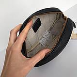 Сумка, клатч Гуччі Marmont натуральна шкіра колір чорний, фото 8