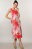 Элегантное платье Мила Ри Мари цвет красный р.42-52, фото 2