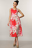Элегантное платье Мила Ри Мари цвет красный р.42-52, фото 3