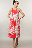 Элегантное платье Мила Ри Мари цвет красный р.42-52, фото 4