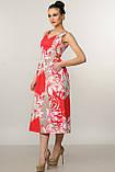 Элегантное платье Мила Ри Мари цвет красный р.42-52, фото 5
