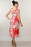 Элегантное платье Мила Ри Мари цвет красный р.42-52, фото 6