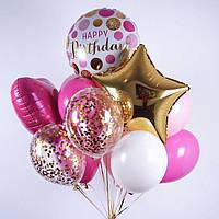 "Букет шаров ""Birthday"" 15 шт"