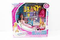 Набор мебели 6604 для Барби ванна + кукла в коробке