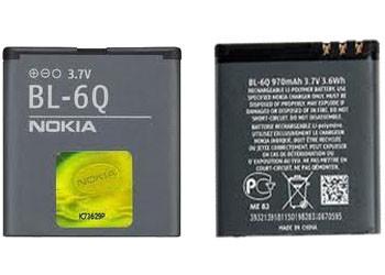 Аккумулятор Nokia BL-6Q 900 mAh Оригинал