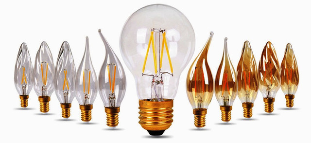 светодиодные филаментные лампочки