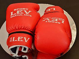 Перчатки боксерские LEV (BG0010) красные