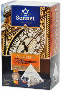 Чай черный Sonnet Уэльский традиционный, 20 пирамидок.