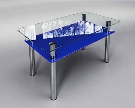 Стол журнальный Вега синий 80х55 (Sentenzo TM), фото 2