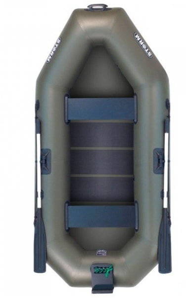 Надувная лодка Шторм st280dt двухместная гребная