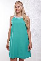 Женское нарядное летнее платье Жемчуг / размер 50-56 / цвет бирюза