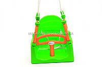 Детские качели для малышей, детей «Doloni» 3 в 1 арт. 0152 Зеленый с красным
