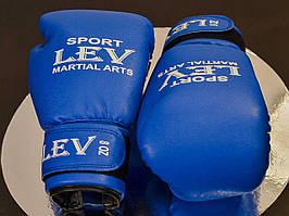 Перчатки боксерские LEV (BG0009) синие