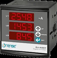Амперметр трехфазный электронный щитовой цифровой 3 фазы с тремя дисплеями 96x96 врезной цена купить