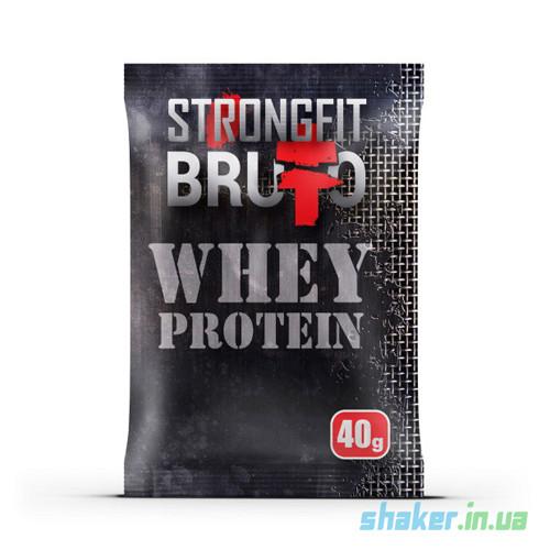 Сывороточный протеин концентрат Strong FIT Whey Protein (40 г) стронг фит вей кава з молоком