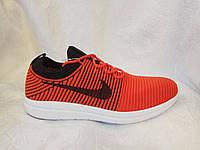 Мужские кроссовки Nike RN Free Flyknit красные, фото 1