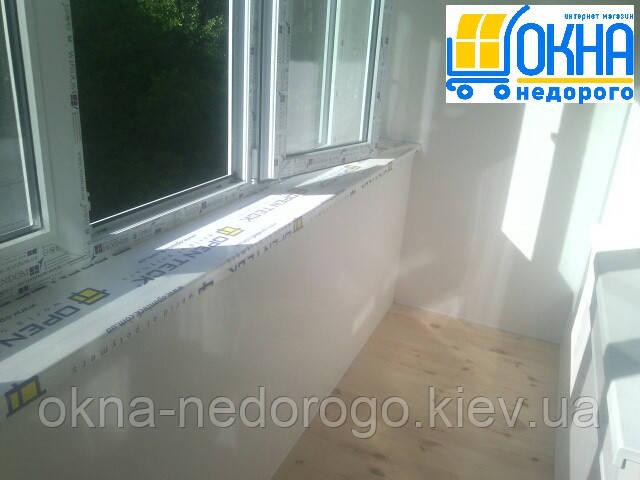 Балкон под ключ Бортничи - фото работы Okna Nedorogo