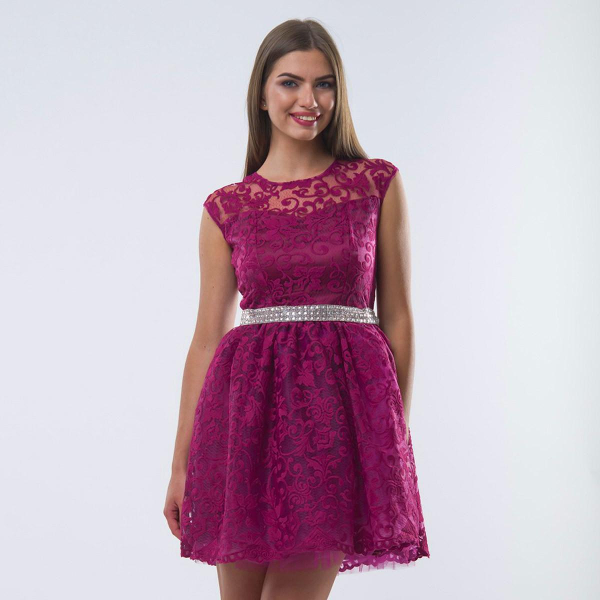 f9488f854374875 Марсаловое выпускное короткое пышное платье