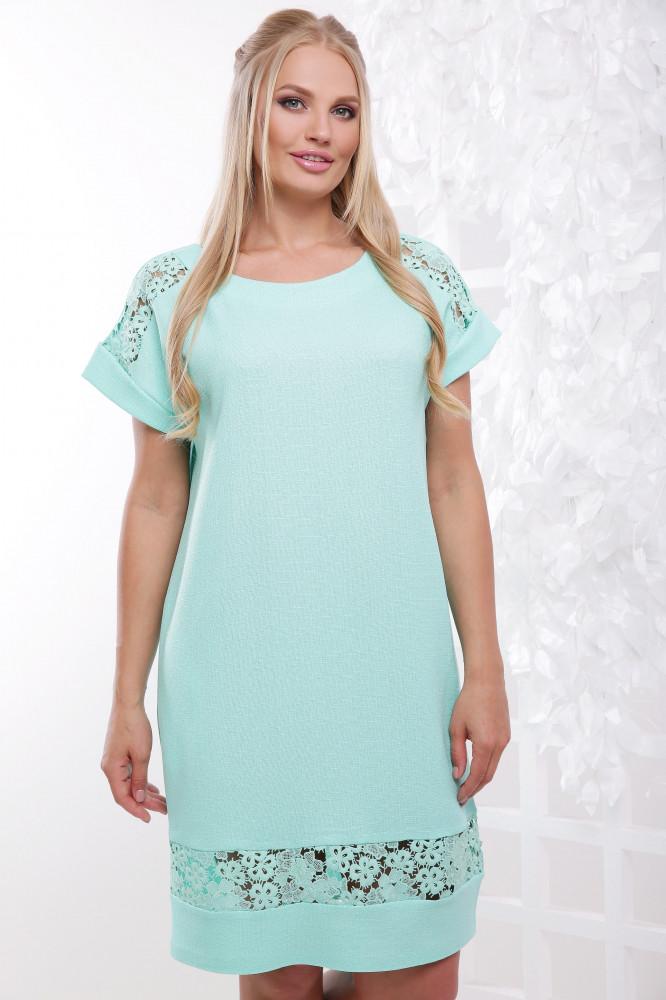 893981dc29d Женское модное летнее платье Венера   размер 50-62   цвет мята - ⭐Я