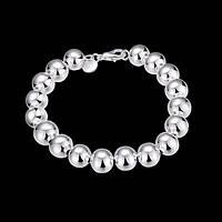 """Женский браслет """"Зеркальные шары"""" покрытие серебро"""