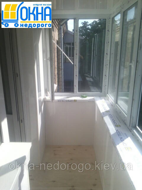Балконы под ключ пригород Киева - фото работы компании Окна Недорого