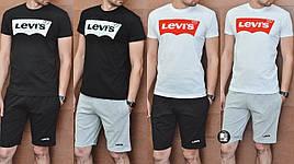 Мужской спортивный комплект (футболка+шорты) в стиле Levi's 4 вида в наличии