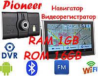 GPS Pioneer Pi700i (750) DVR PRO + AV 1gb-16gb Андроид GPS Навигатор Android Навигатор  Видеорегистратором