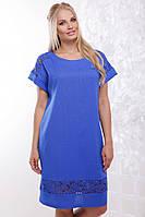 Женское модное летнее платье Венера / размер 50-62 / цвет электрик