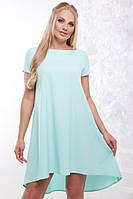 Женское платье свободного силуэта Солнышко / размер 48-56 / цвет нежная мята