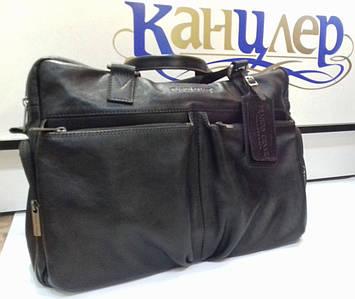 Дорожная сумка кожаная черная