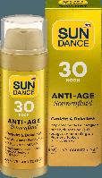 Антивозрастная солнцезащитная эмульсия для лица SUNDANCE Anti Age LSF 30+, 50 мл.