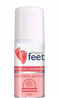 Аэрозоль для ног  Контроль Потливости , Happy Feet