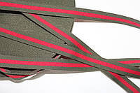 ТЖ 15мм репс (50м) хаки+красный