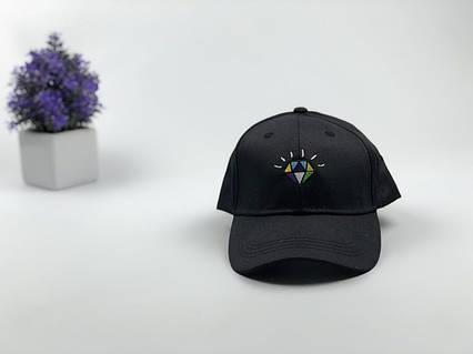 Кепка бейсболка Diamond черная, фото 2