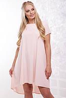 Женское платье свободного силуэта Солнышко / размер 50-56 / цвет персик