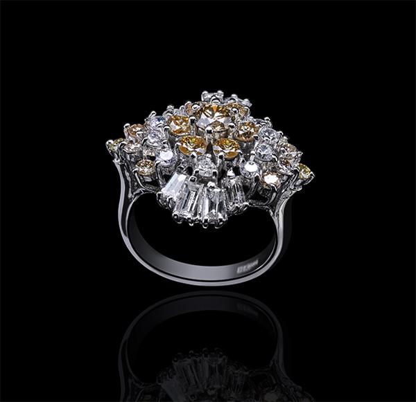 Кольцо из белого золота с бриллиантами С18Л1№6