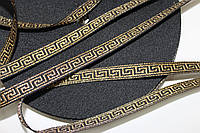 ТЖ 15мм репс (50м) черный+золото, фото 1