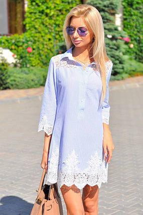 Платье рубашка с дорогим кружевом, фото 2