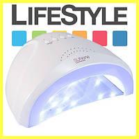 Гибридная светодиодная UV/LED лампа SunOne 24 и 48 Вт White с сенсором для сушки ногтей. Скидка -30%