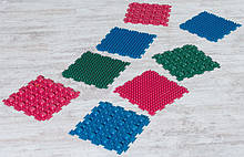Масажний гумовий килимок для ніг «Пазли-8» (8 шт.)
