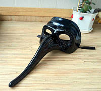 Венецианская маска Доктор Чума чёрная