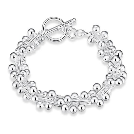 """Красивый женский браслет """"Виноград"""" покрытие серебро"""