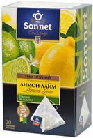 Чай черный Sonnet Лимон-Лайм,20 пир.